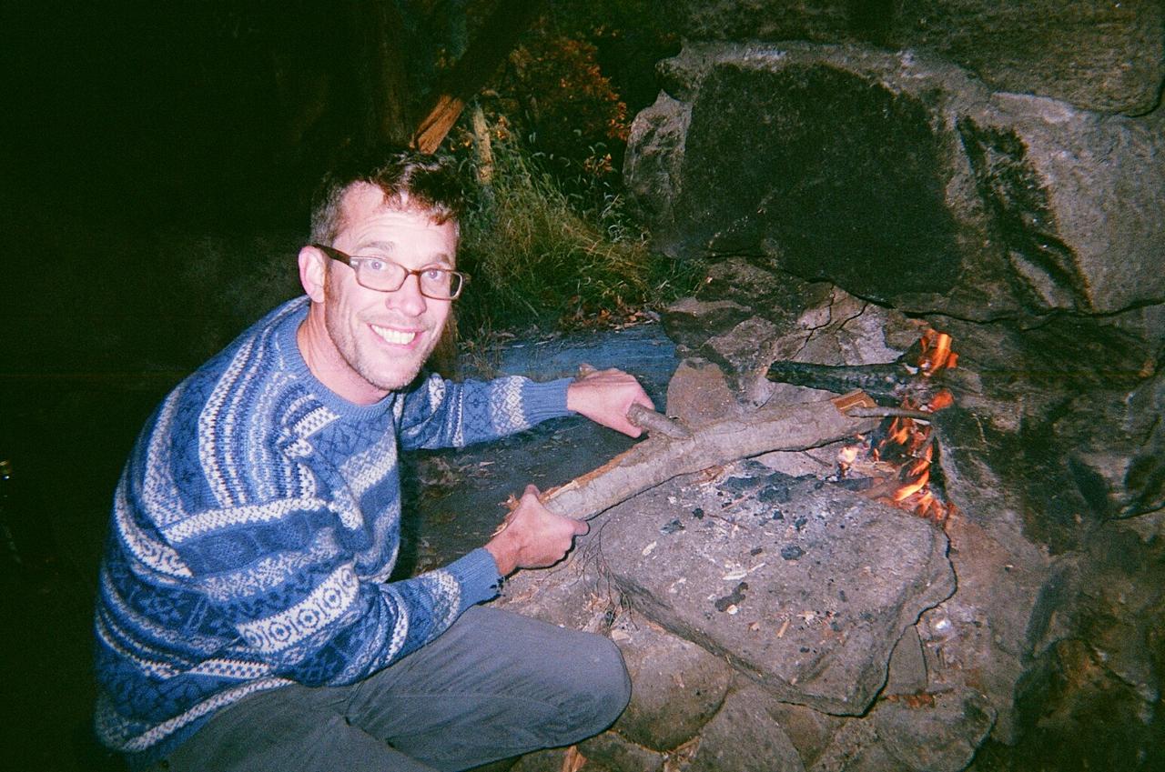 Jason gettin the fire ready
