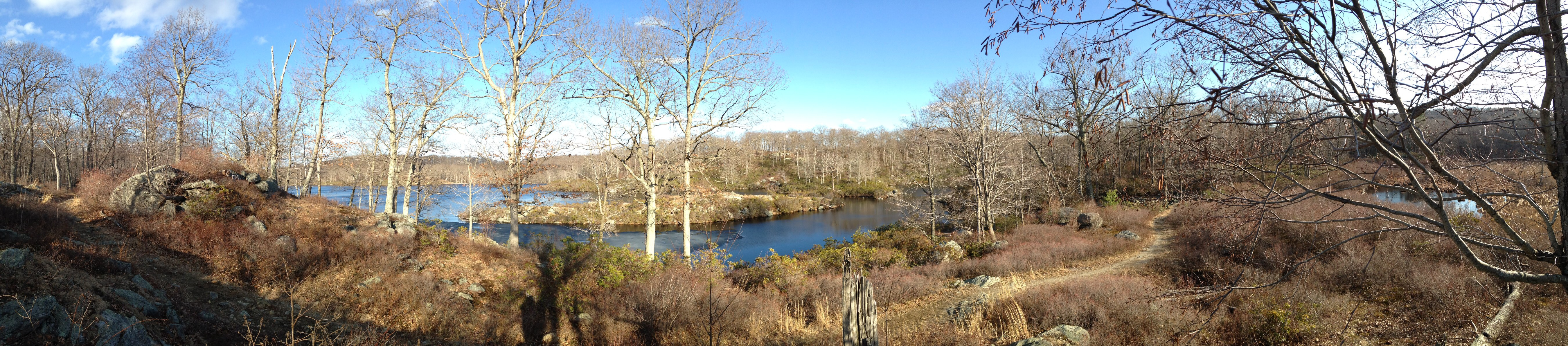 Lake Skenonto and swamp panorama