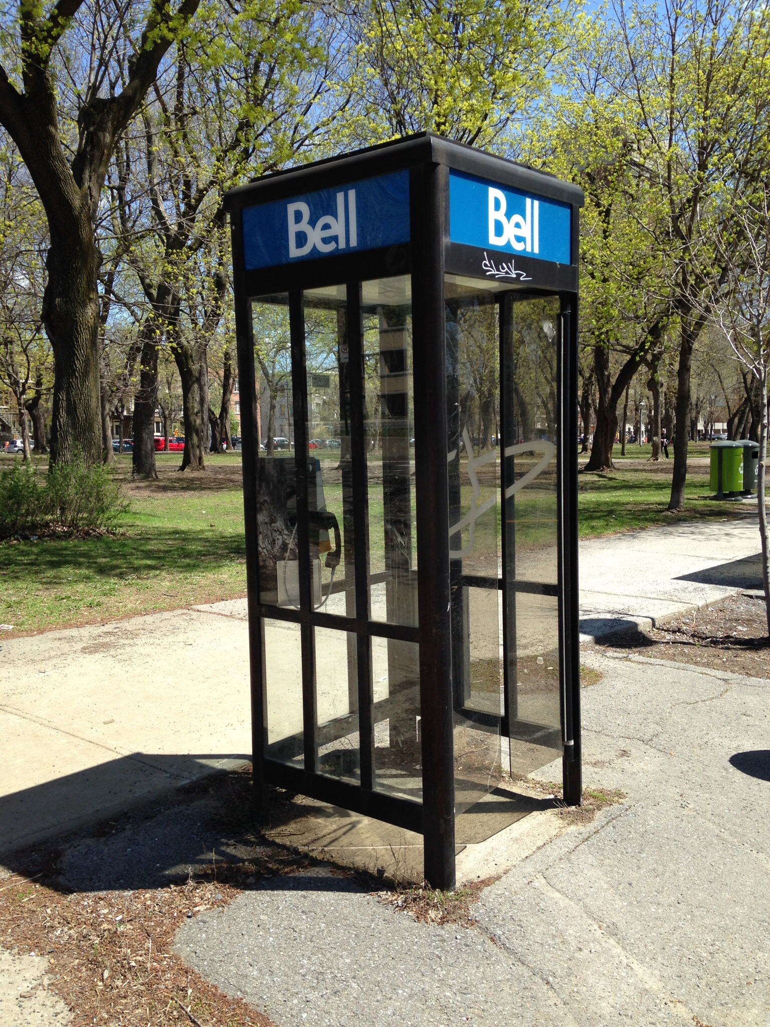 What? A phone booth!