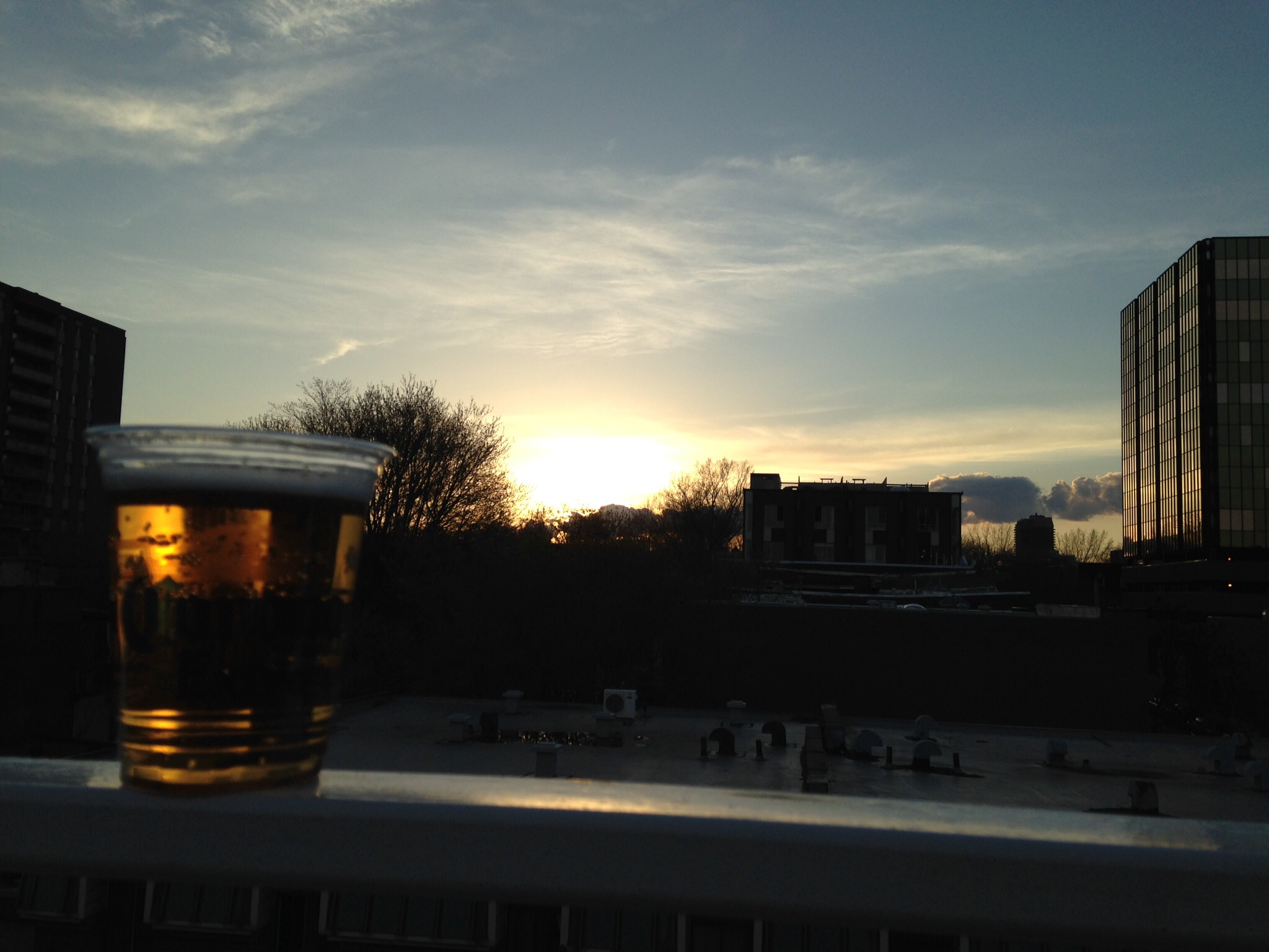 Sunset beer at Complexe Sky bar