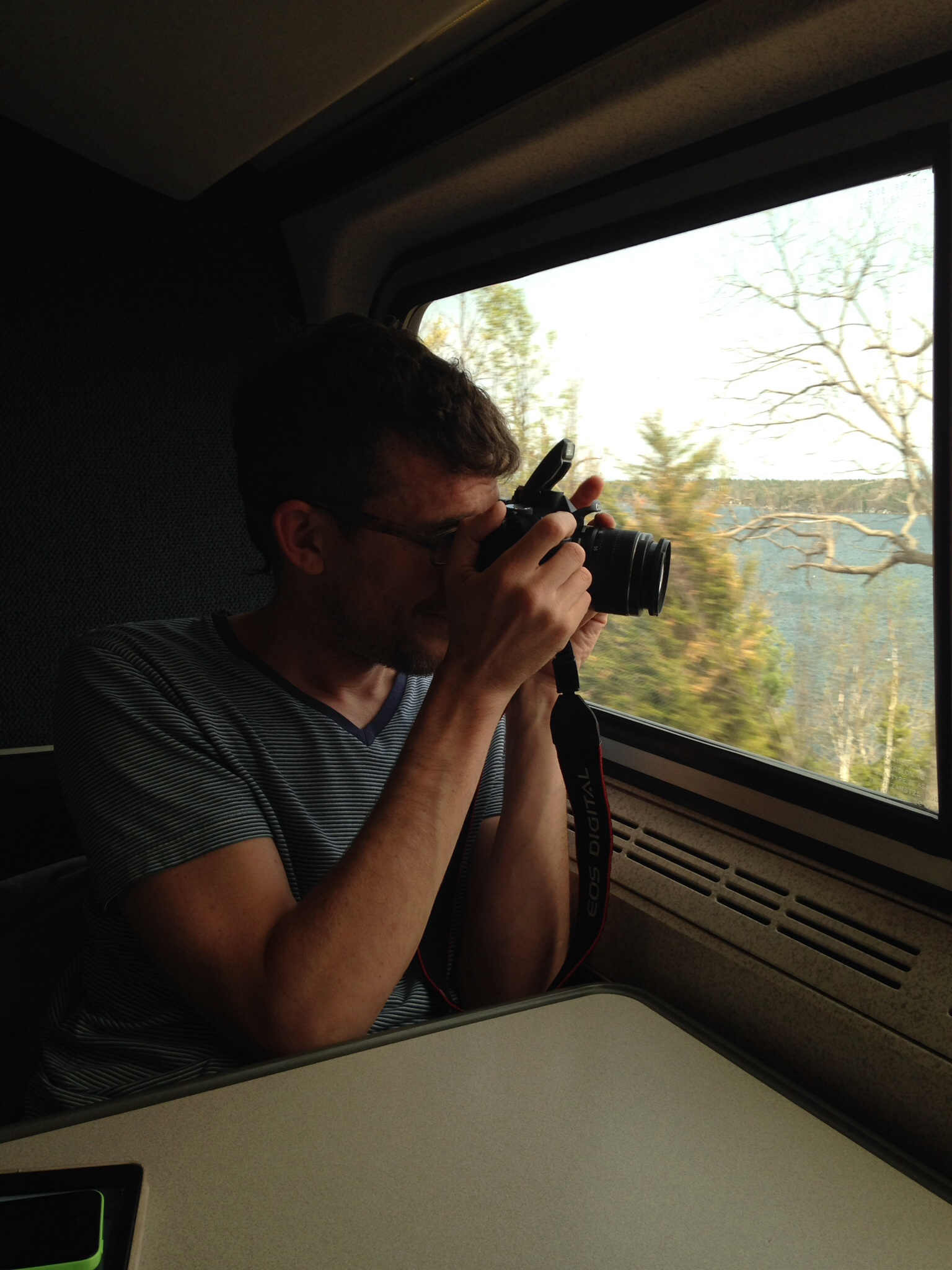 Jason documenting our train ride