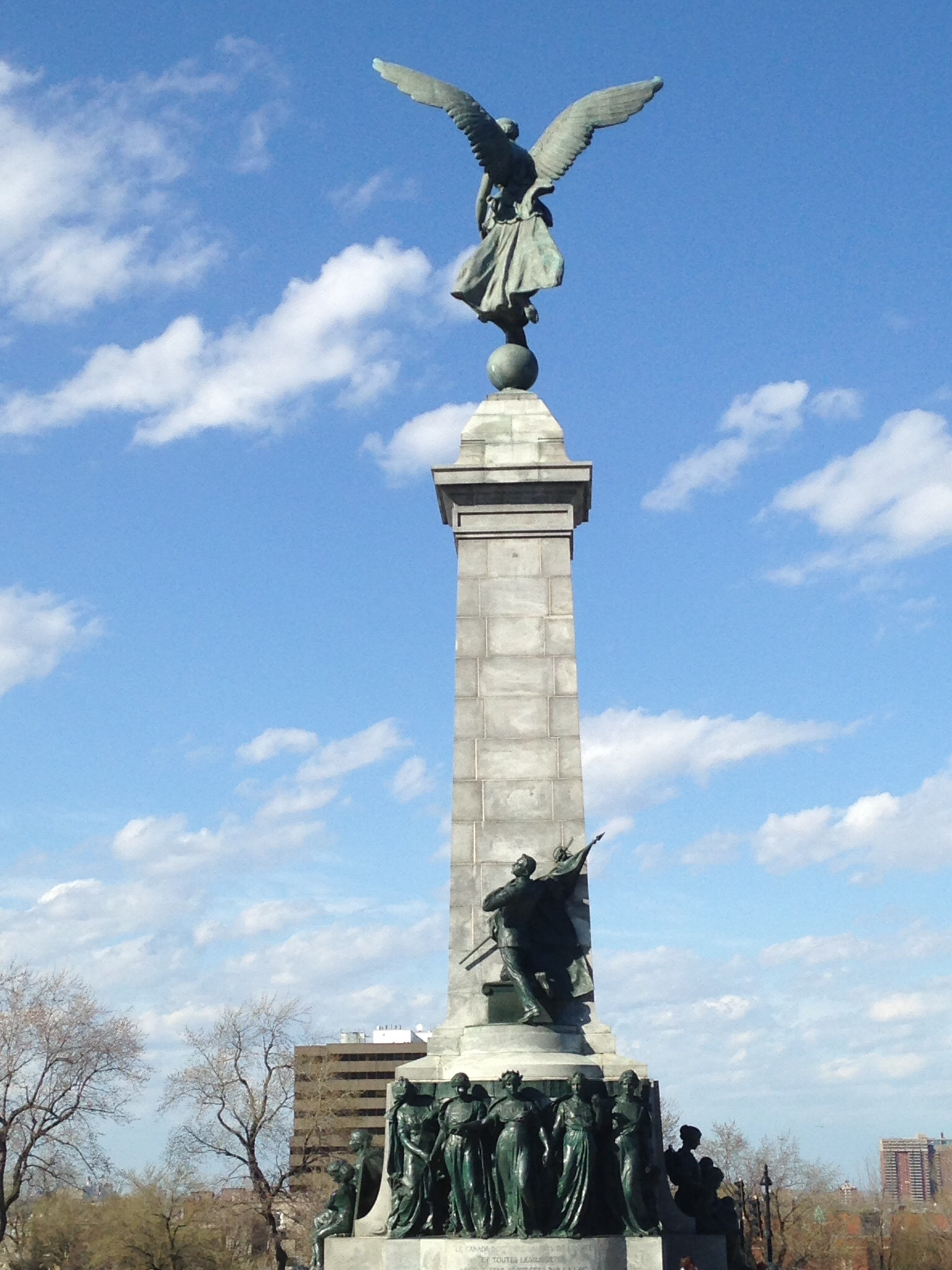 Back of the George-Étienne Cartier statue