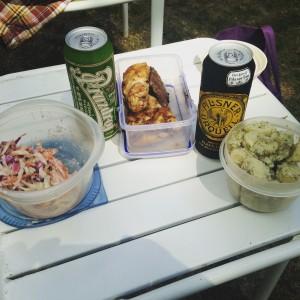 Famous cole slaw and potato salad