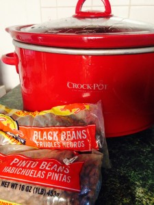 Crock and beans