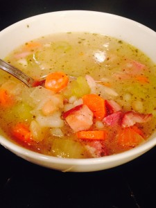 Ham, Potato and Bean Soup